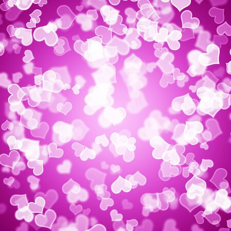 Mauve Hearts Bokeh Sparkling Background Showing Love Romance And Valentines photo