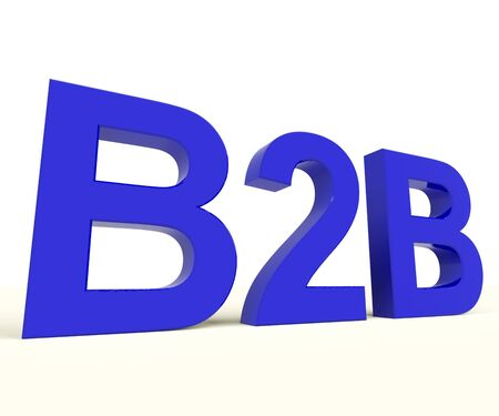 B2b Blue Word As A Sign Of Business And Commerce Stock Photo - 12637000