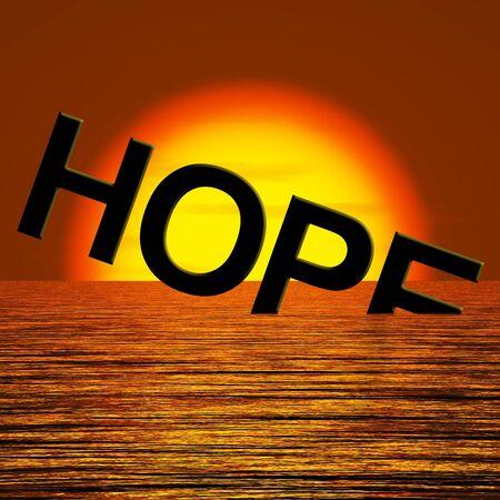 Espero que se hunde la Palabra En El Mar Mostrando desesperación y la depresión