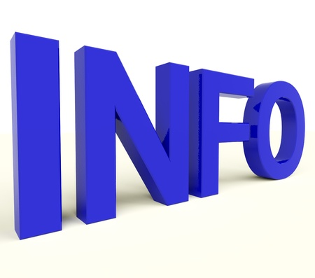Info Blue Letters Showing Information And Support
