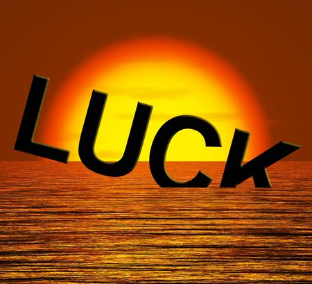 unlucky: Luck Word Sinking Showing Unlucky And Misfortures