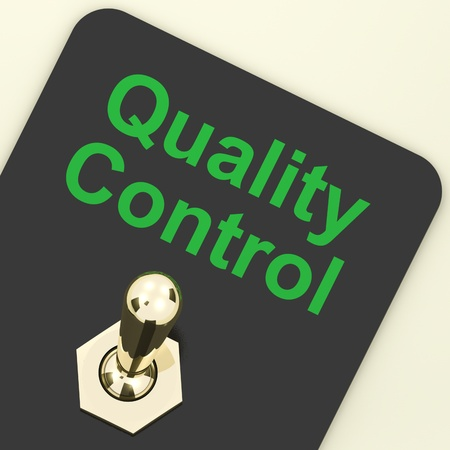 Quality Control Switch On Showing Satisfaction And Perfection Stock Photo - 12637105