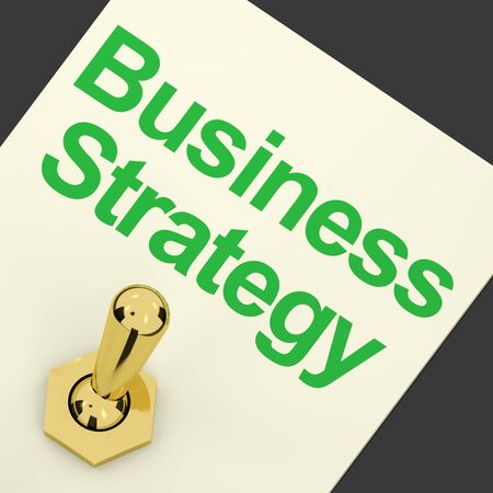 Business Strategy Switch On Showing Vision And Motivation photo