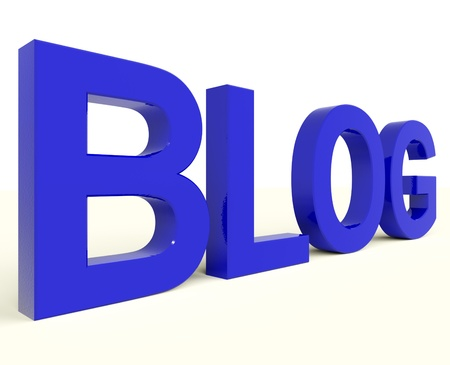 Blog Letters In Blue For Blogger Website Stock Photo - 12637081