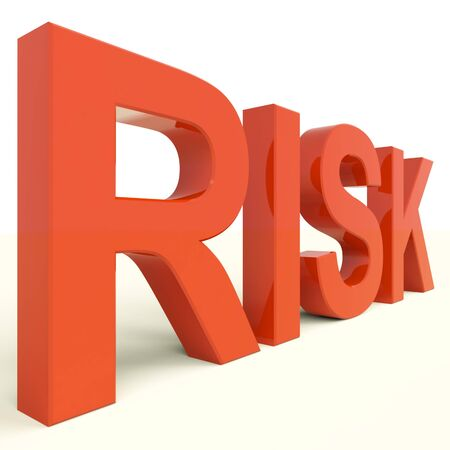 peril:  Risk Letters In Red Showing Peril And Uncertainty