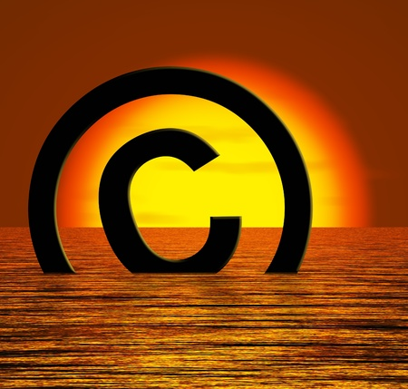 Copyright Symbol Sinking Meaning Piracy Or Infringements photo