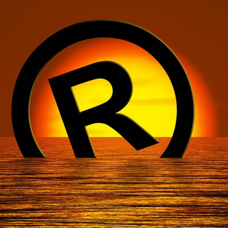 Registered Symbol Sinking Meaning Piracy Or Infringements photo