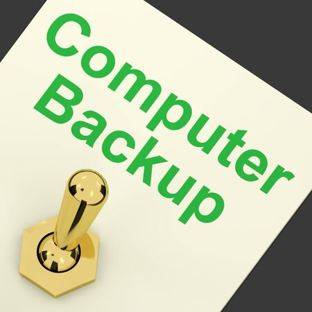Backup Computer Switch For Data Archiving And Storage Stock Photo - 12637411