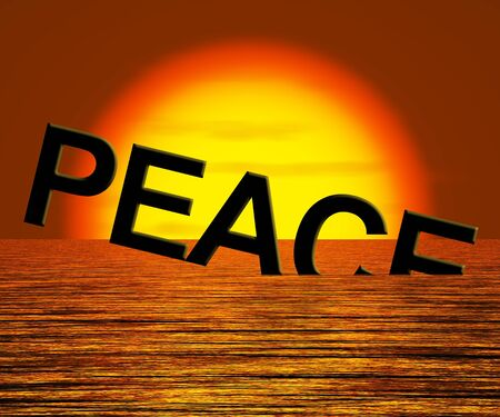 Peace Word Sinking Showing War And Conflicts
