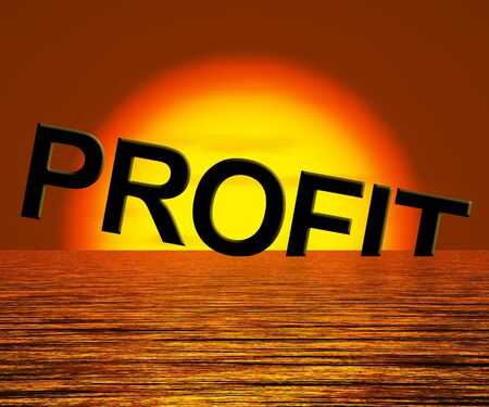 Profit Letters Sinking As Symbol for Unprofitable Business And Failure