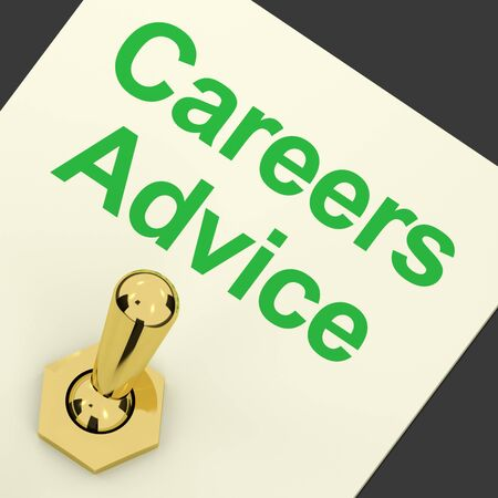 Careers Advice Switch On Shows Employment Guidance And Decisions Stock Photo - 12637413