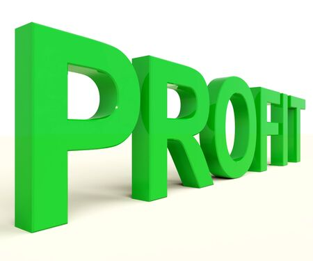 lucrative: Profit Word Representing Market And Trade Earning Stock Photo