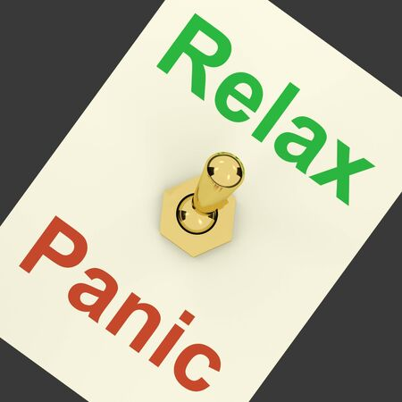 Relax Switch On Showing Relaxing And Not Being Worried