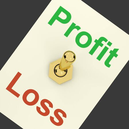 lucrative: Profit Switch On Representing Market And Trade Earning  Stock Photo