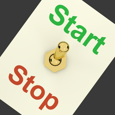 Start Switch On As Symbol For Controlling Or Activating Stock Photo - 12637158