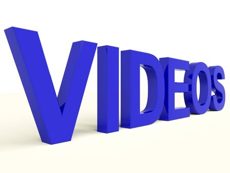 Videos Letters In Blue Showing Dvd Or Multimedia photo