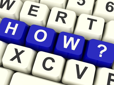 Computer Keyboard With How Question For Asking Advice Stock Photo - 12637494