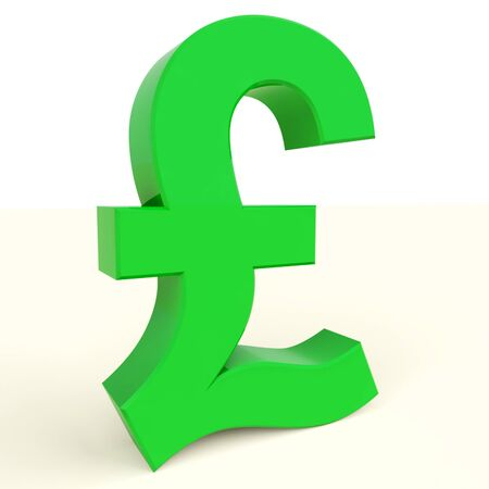 Pound Symbol For Money And Investments In England Stock Photo - 12637014