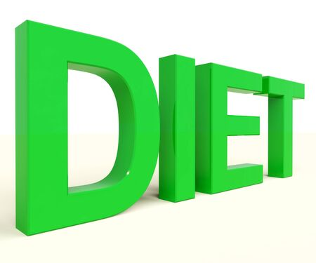 recommendations: Dieting Word Shows Diet Information And Recommendations Stock Photo