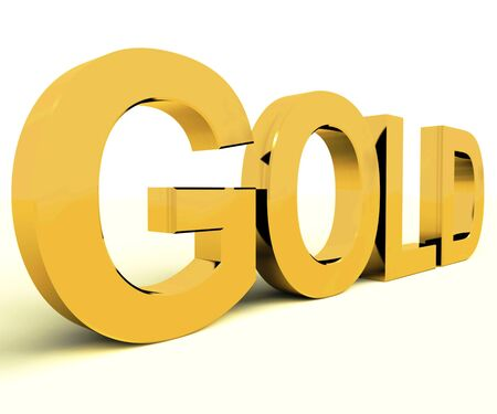 Gold Letters As Symbol For Success Or Riches photo