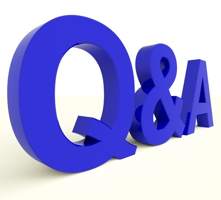 questions answers: Q And A Blue Letters Showing Questions And Answers