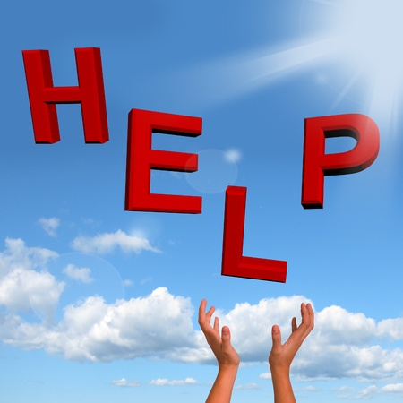 Catching Help Letters As Symbol For Support And Advice Stock Photo - 12637428
