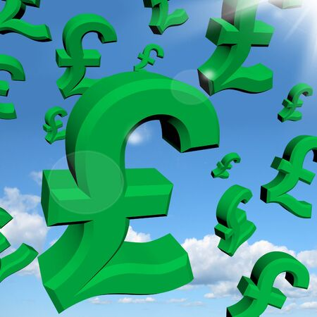 windfall: Pound Signs As Symbol For Money Or Wealthy