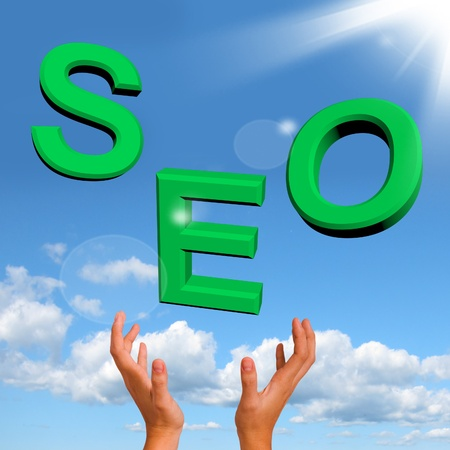 Catching Seo Word Showing Internet Optimization And Promotion Stock Photo - 12637632