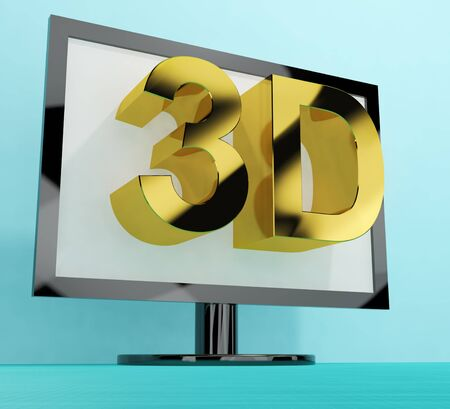 3d dimensional: Three Dimensional Television Meaning 3D HD TVs Stock Photo