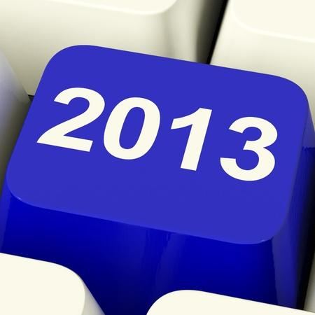 2013 Key On Keyboard Representing Year Two Thousand Thirteen photo