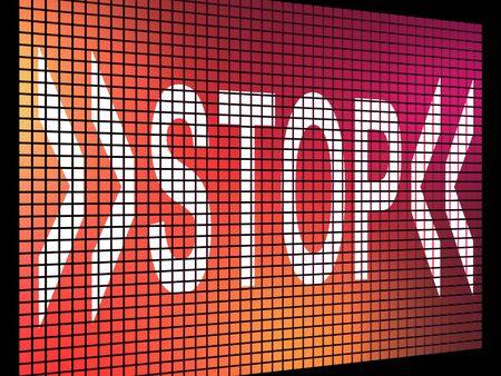 denial: Stop Screen Showing Denial Panic Or Negativity
