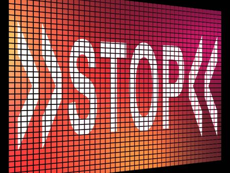 Stop Screen Showing Denial Panic Or Negativity Stock Photo - 13480467