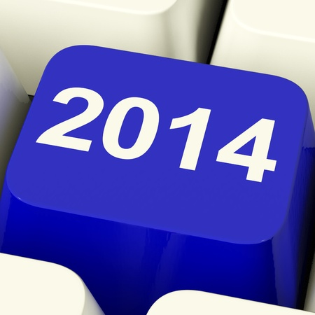 2014 Key On Keyboard Representing Year Two Thousand Fourteen photo