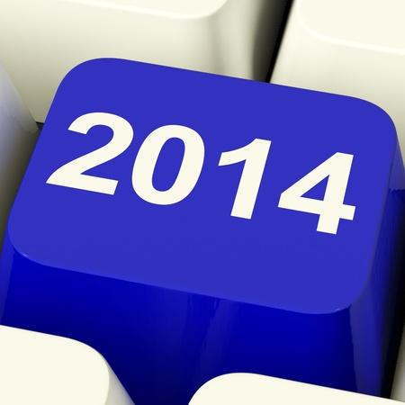 2014 Key On Keyboard Representing Year Two Thousand Fourteen photo