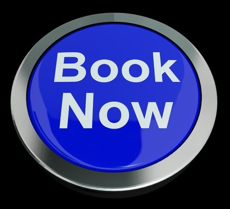 Blue Book Now Button For Hotel Or Flight Reservations photo