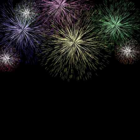 Exploding Fireworks Background As New Years Or Independence Celebrations Stock Photo - 13480461