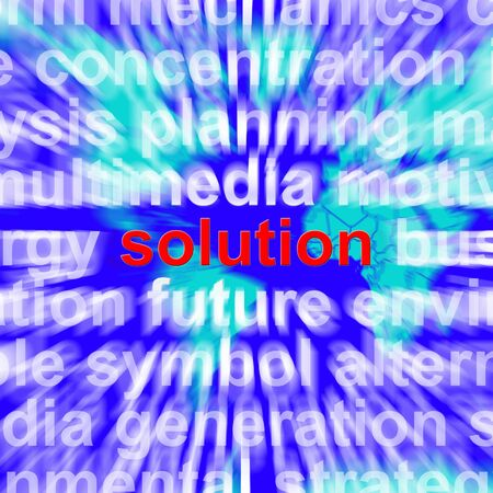 Solution Word Showing Success Acheivement And Strategies Stock Photo - 13480631