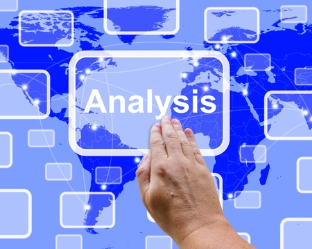 Analysis Button Pressed Shows Checking And Examining  Stock Photo - 13480616
