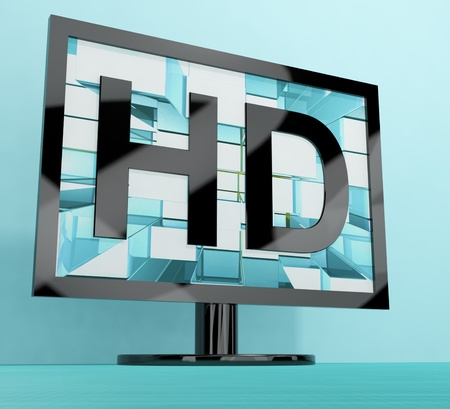 HD Monitor Represents High Definition Television Or TV photo