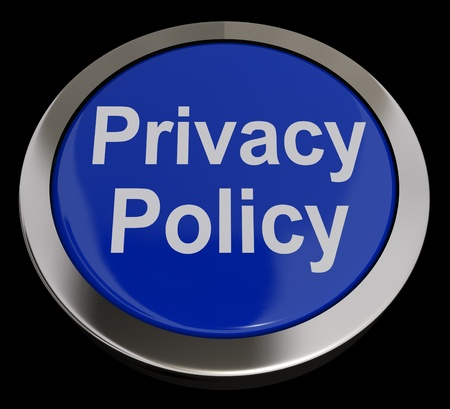 Privacy Policy Button In Blue Showing The Company Data Protection Terms photo