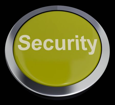 Security Yellow Button Showing Privacy Encryption And Safety Stock Photo - 13480840