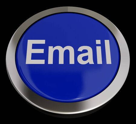 Email Button In Blue For Emailing Or Communication photo