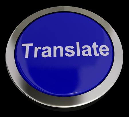 Translate Button In Blue Showing Online Translators Stock Photo - 13480696