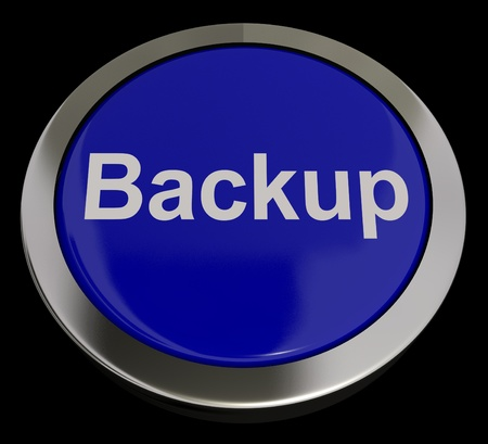 Backup Button In Blue For Archives And Storage Stock Photo - 13480754