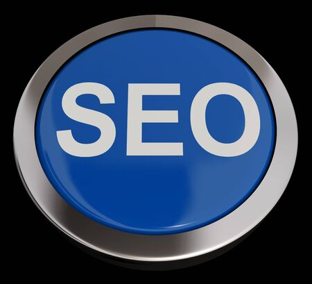 SEO Button In Blue Showing Internet Marketing And Optimizing Stock Photo - 13480828