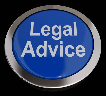 Legal Advice Button Blue Showing Attorney Guidance photo