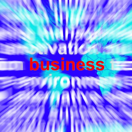 Business Word Representing Trade Partnerships and Commerce Stock Photo - 13480335