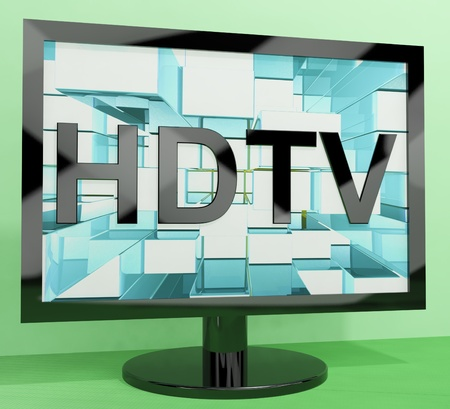 hdtv: HDTV Monitor Representing High Definition Television Or TVs