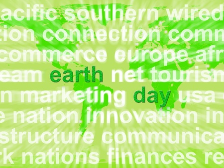 Earth Day Words Shows Environmental Concern And Conservation photo