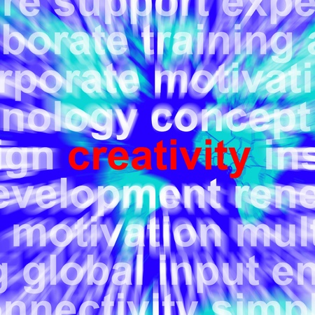Creativity Word Represents Innovative Ideas And Imagination Stock Photo - 13480625